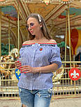 Женская стильная рубашка со спущенными плечами (в расцветках), фото 7