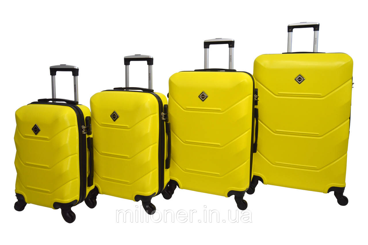 Чемодан Bonro 2019 набор 4 штуки желтый