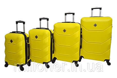 Чемодан Bonro 2019 набор 4 штуки желтый, фото 2