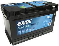 Аккумулятор 80 Exide AGM 6СТ-80 Евро (EK800)