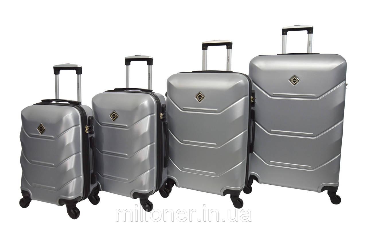 Чемодан Bonro 2019 набор 4 штуки серебряный