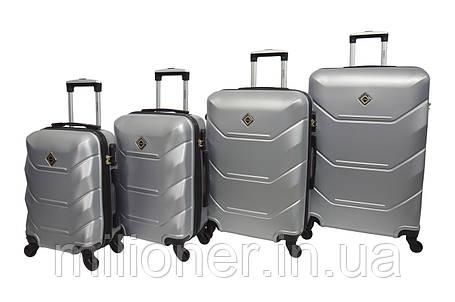 Чемодан Bonro 2019 набор 4 штуки серебряный, фото 2