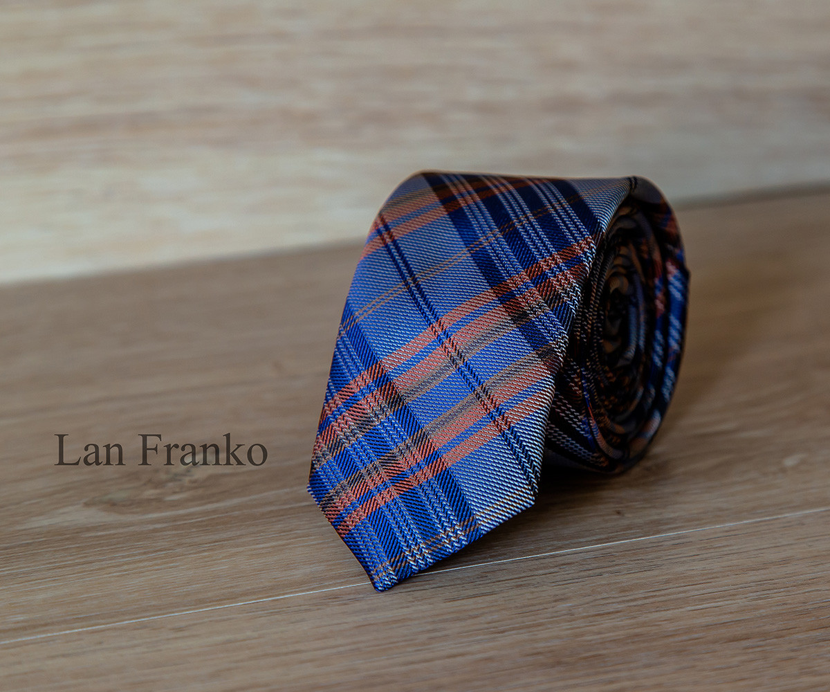 Краватка чоловіча вузька з візерунком |Lan Franko
