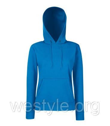 Толстовка на флисе с двойным капюшоном - 62038-51 ярко-синяя