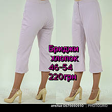 Бриджи лен , Интернет магазин женской одежды, 48,50,52,54,56,58, купить бр 009-2.