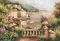 Набор алмазной вышивки Средиземноморье. Цветочный балкон