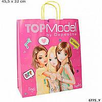 TOP Model подарунковий паперовий пакет з ручками