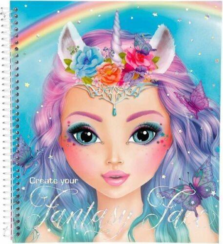 Книжка-розмальовка Казковий Мейкап Depesche Top Model Макияж Фэнтези (45298)