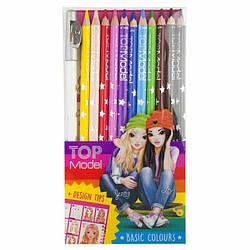 Набір кольорових олівців з точилкою Top Model 12 шт ( Набор цветных карандашей TOPModel, 12 шт )