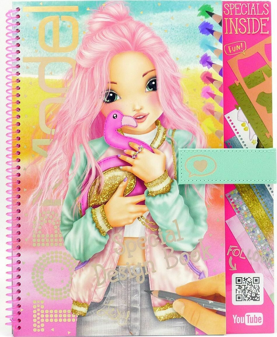 Розмальовка TOPModel Фламінго , Книга-раскраска Top Model Flamingo, Раскраска TOP Model Фламинго, Книга-раскра