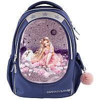Рюкзак TOP Model Балет, Фентезі Балерина, темно синій  (Школьный рюкзак ТОП Модел)