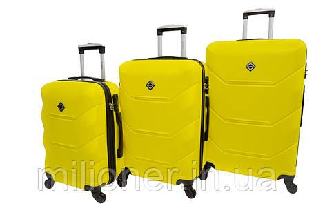 Чемодан Bonro 2019 набор 3 штуки желтый, фото 2