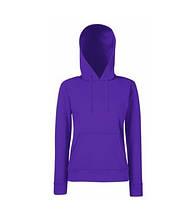 Толстовка на флисе с двойным капюшоном - 62038-PE фиолетовая
