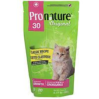Pronature Original Kitten Classic Recipe ПРОНАТЮР ОРИДЖИНАЛ КОТЕНОК корм для котят без пшеницы кукурузы сои  0.35 кг