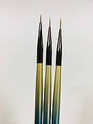 Набор кистей для рисования на ногтях, 3 шт