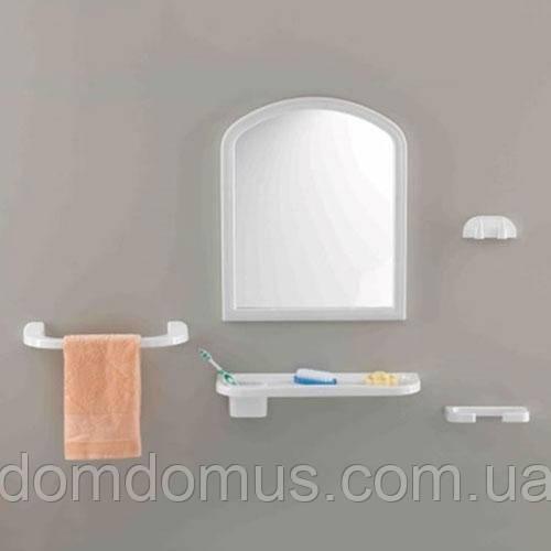 Зеркало для ванной (5 предмет) Öztürk Tombo 480*370 мм, Турция, белый