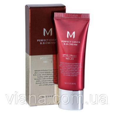 ББ крем с максимальной кроющей способностью  MISSHA M Perfect Cover BB Cream 20ml 23 - Natural Beige