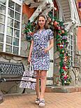 Женское платье с поясом (в расцветках), фото 8