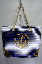 Красивая сумка с якорем 54*38 см удобная пляжная женская сумка с ручками