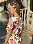Женское платье с поясом и открытыми плечами (в расцветках), фото 2