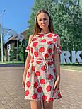 Женское платье с поясом и открытыми плечами (в расцветках), фото 6