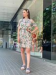 Женское платье с поясом и открытыми плечами (в расцветках), фото 9