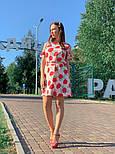 Женское платье с поясом и открытыми плечами (в расцветках), фото 10