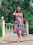 Женское платье с цветочным принтом (в расцветках), фото 6