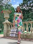 Женское платье с цветочным принтом (в расцветках), фото 7