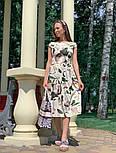 Женское платье с цветочным принтом (в расцветках), фото 8