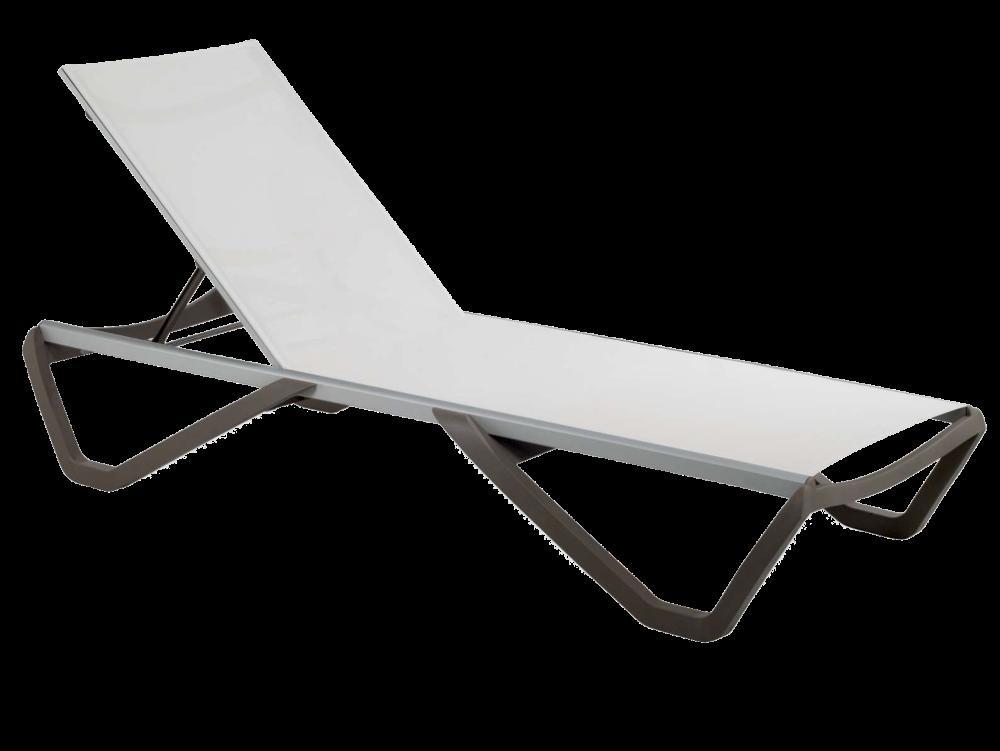 Шезлонг Papatya Wave (колір сіро-коричневий, сітка біла)