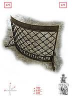 Кованая решетка для камина