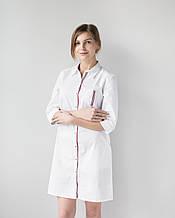 Медицинский женский халат Манхэттэн строчка цветная 40-54