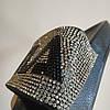 Чорні Капці 36, 37 FILA стрази шльопанці ФІЛА бісер блискучі шльопанці зі стразами з камінням бите скло, фото 4