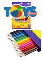 Карандаши цветные Smart, 18 цветов, ZB.2425