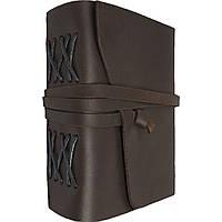 Кожаный блокнот ежедневник темно-коричневый 17.6*13.5 см