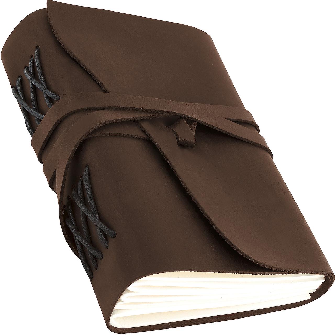 Кожаный блокнот ежедневник коричневый 20.5*17 см