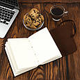 Кожаный блокнот ежедневник коричневый 20.5*17 см, фото 7