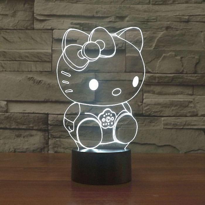 Сменная панель для 3D светильника 3D Lamp Хелоу Китти (SP-3118)