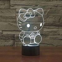 Сменная панель для 3D светильника 3D Lamp Хелоу Китти (SP-3118), фото 1