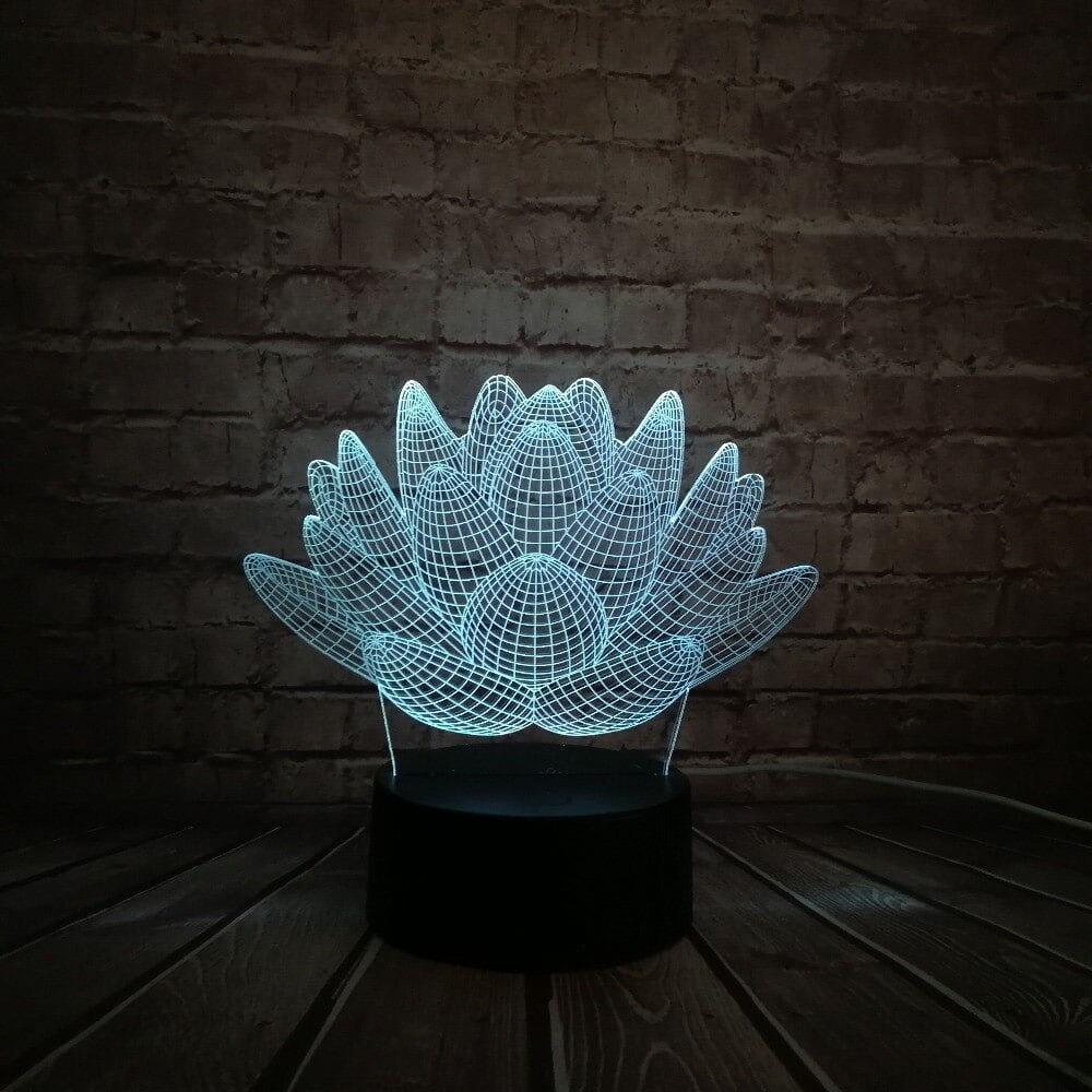 Сменная панель для 3D светильника 3D Lamp Цветок лотоса(SP-3096)