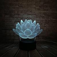 Сменная панель для 3D светильника 3D Lamp Цветок лотоса(SP-3096), фото 1