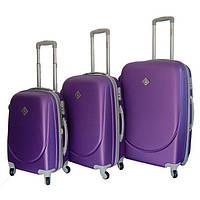 Набор чемоданов на колесах Bonro Smile Фиолетовый 3 штуки