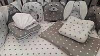 """Комплект в кроватку, Набор в кроватку """"Звери"""""""