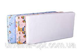 Детский матрас в кроватку KPK-10 люкс толстый (кокос, поролон, кокос) желтый