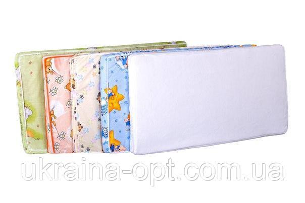 Детский матрас в кроватку KP-6 полу-люкс тонкий (кокос, поролон) розовый