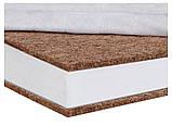 Детский матрас в кроватку Comfort Elite - 10 см. (кокос, полиуретан, кокос) белый, фото 3