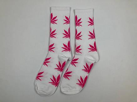 Носки HUF Plantilife - высокие - белые розовый лист, фото 2
