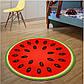 3d коврик безворсовый для дома 80 х 80 см - Арбуз, фото 3