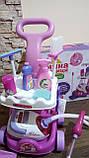 Набор детский для уборки с пылесосом, щетка, совок, звук, фото 3